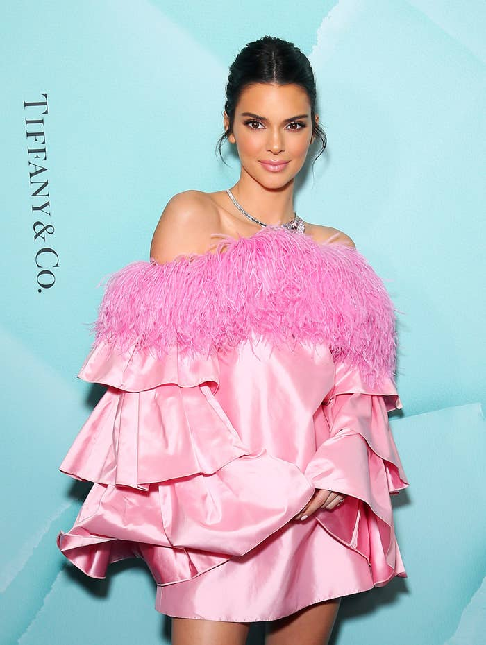 Kendall Jenner is pictured at a Tiffany & Co. store launch