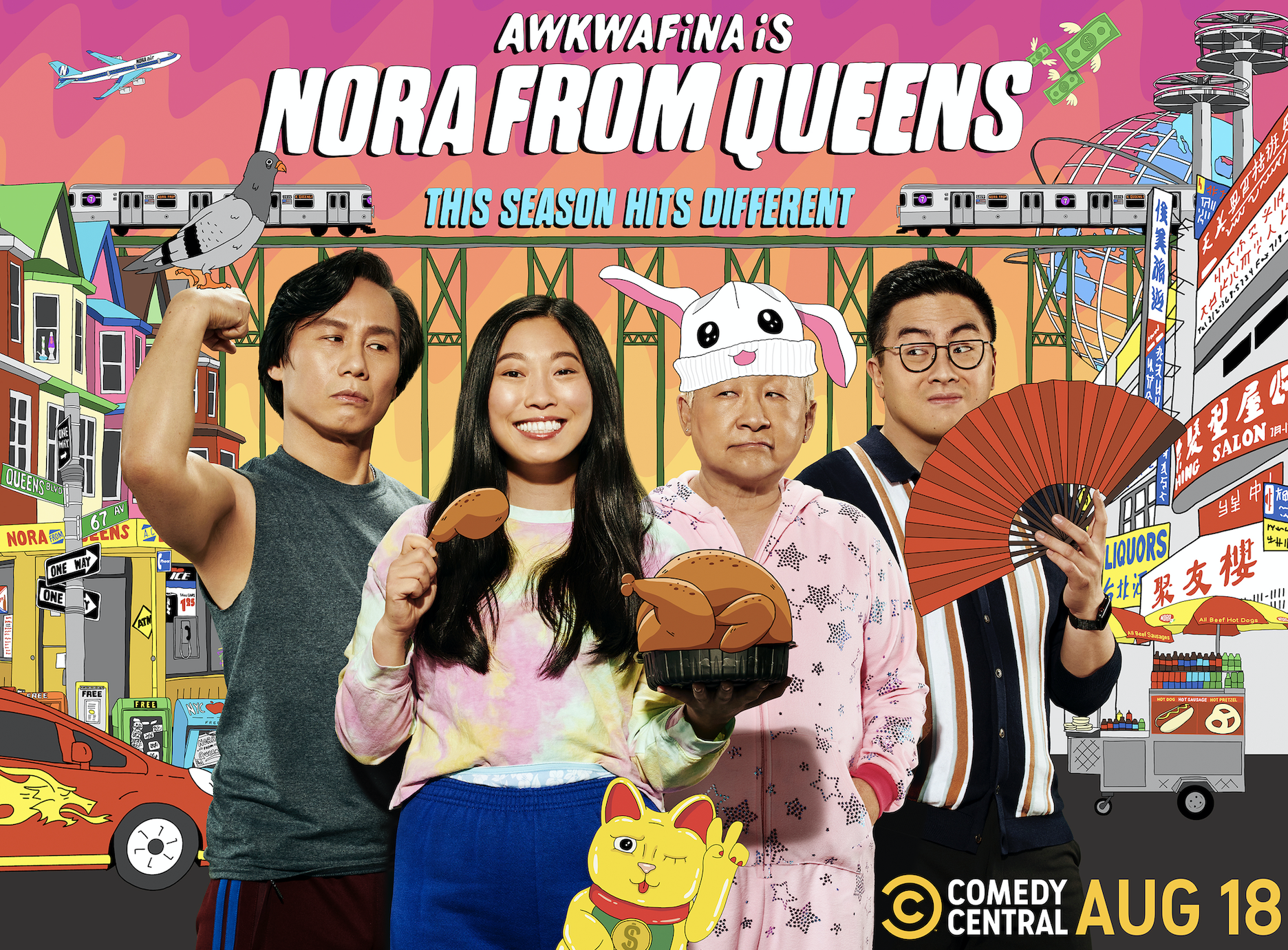 Promotional poster for Awkwafina Is Nora From Queens