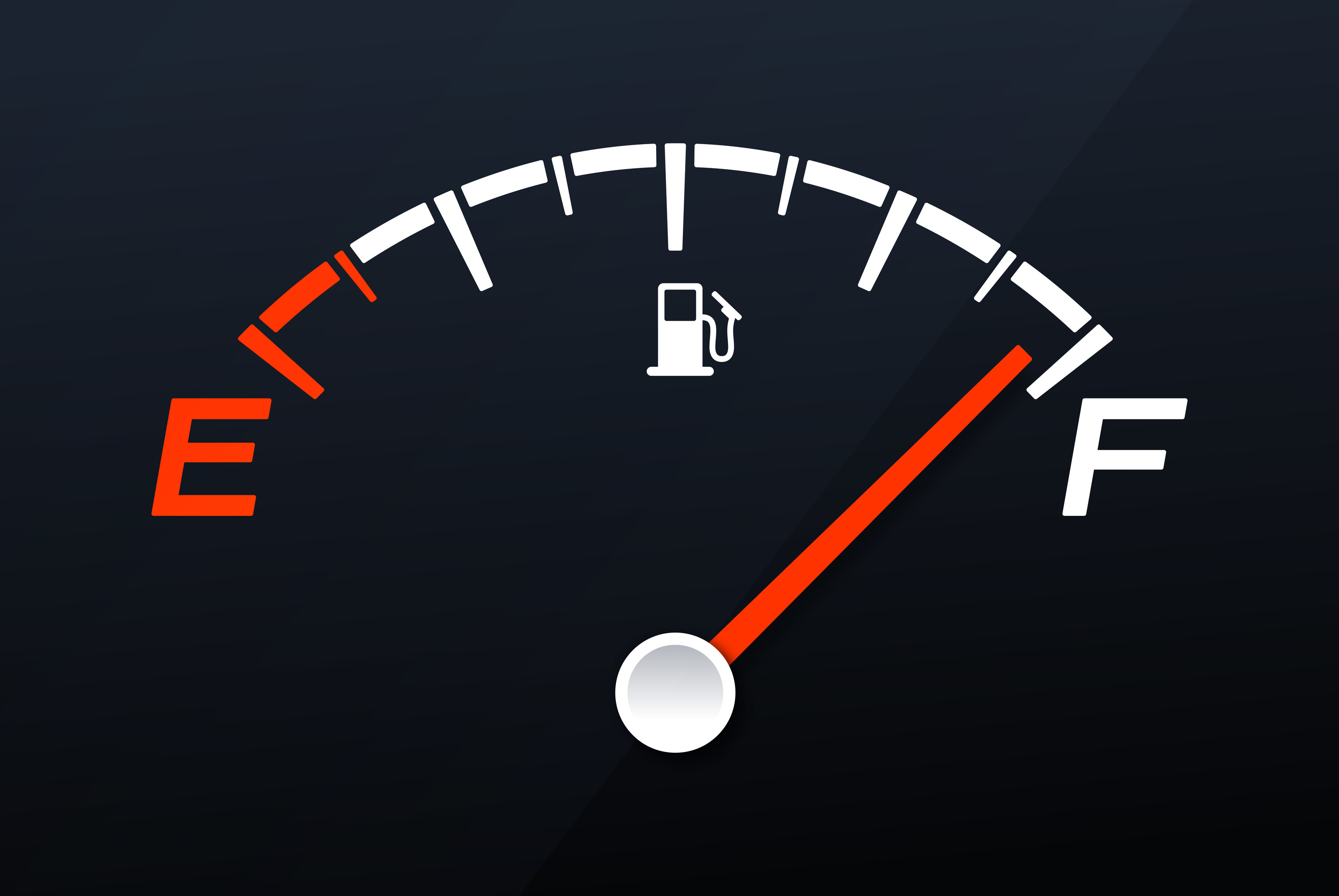 A gas tank on full