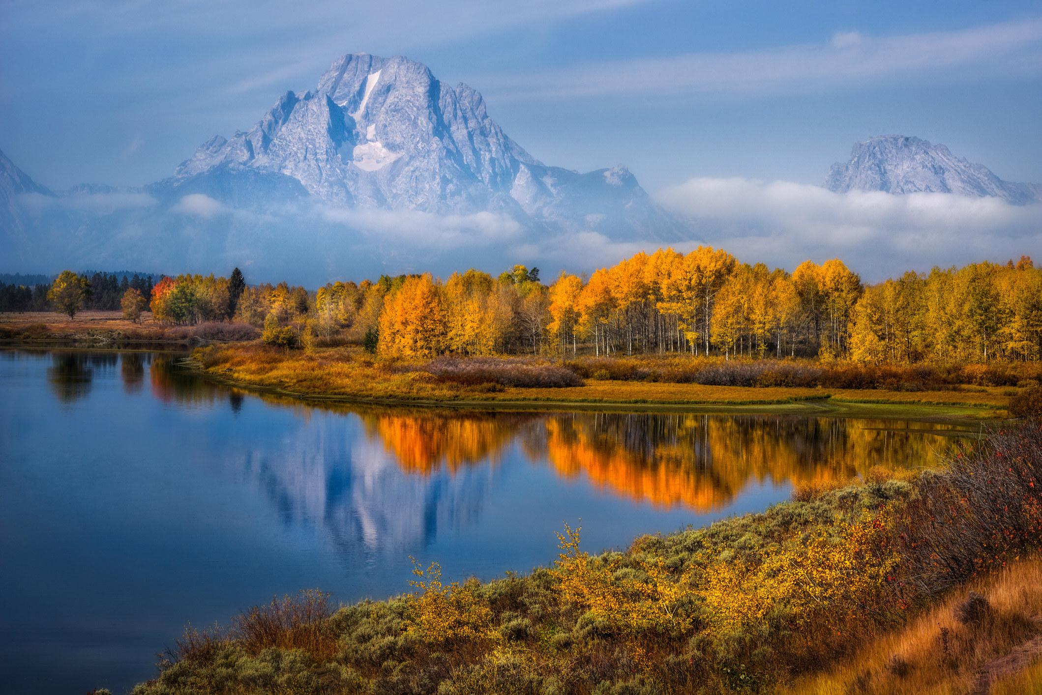 Fall colors at Grand Teton National Park.