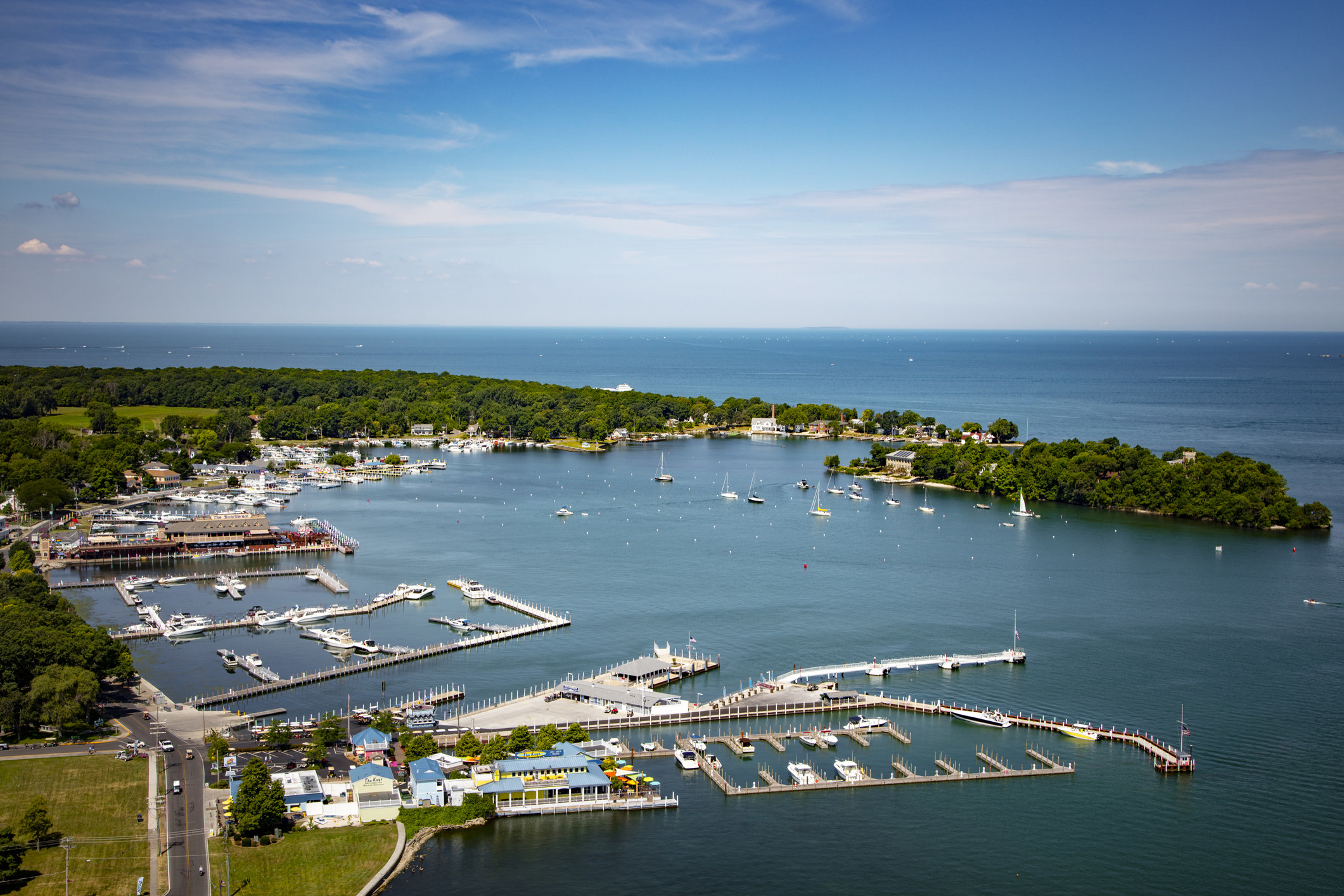 An aerial view of Put-In-Bay, Ohio.