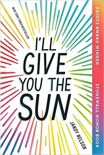 Title text in bold black print with multicolored sun ray illustrations surrounding it