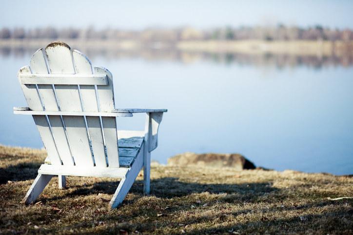Adirondack chair on a beach