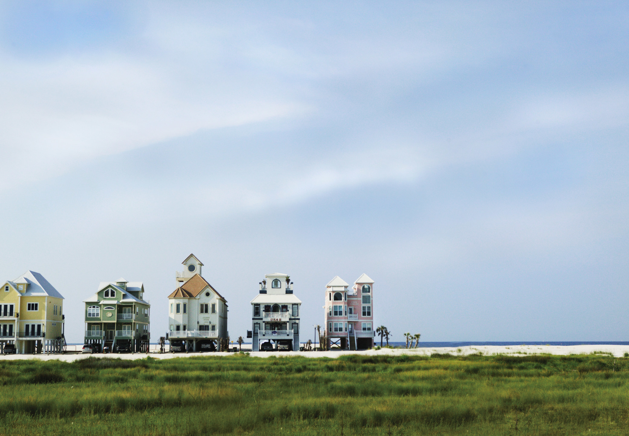 Houses on Alabama's Gulf Shores.