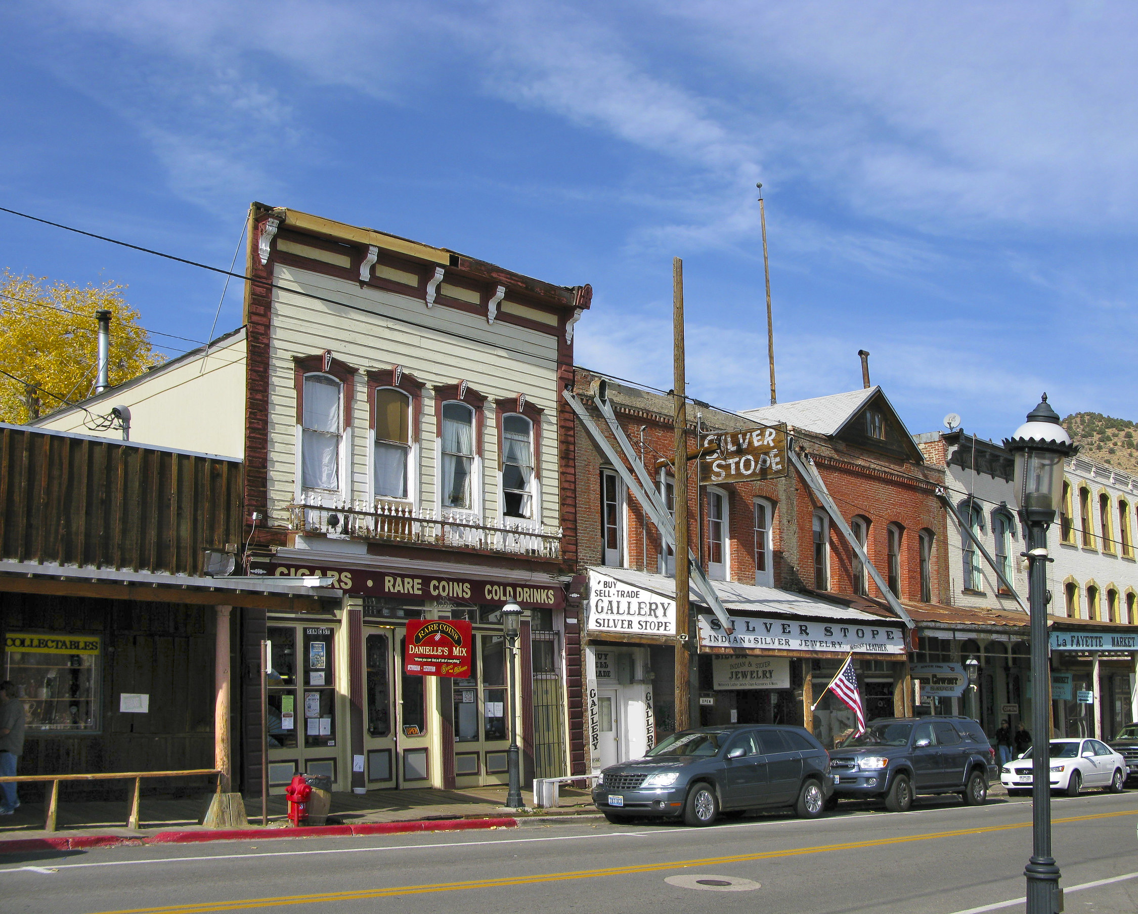 The historic downtown area in Virginia City, Nevada.