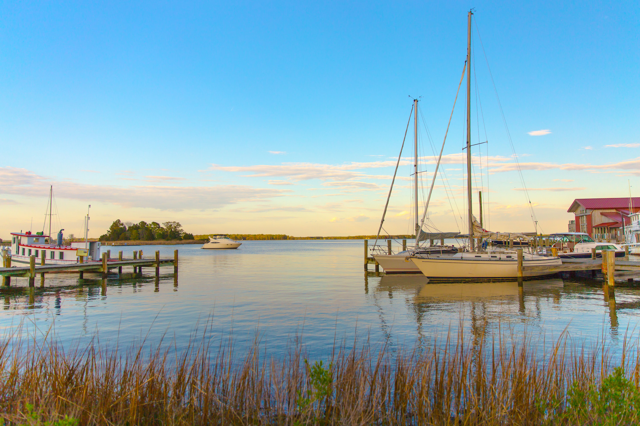 A view of the Chesapeake Bay from Saint Michaels, Maryland.