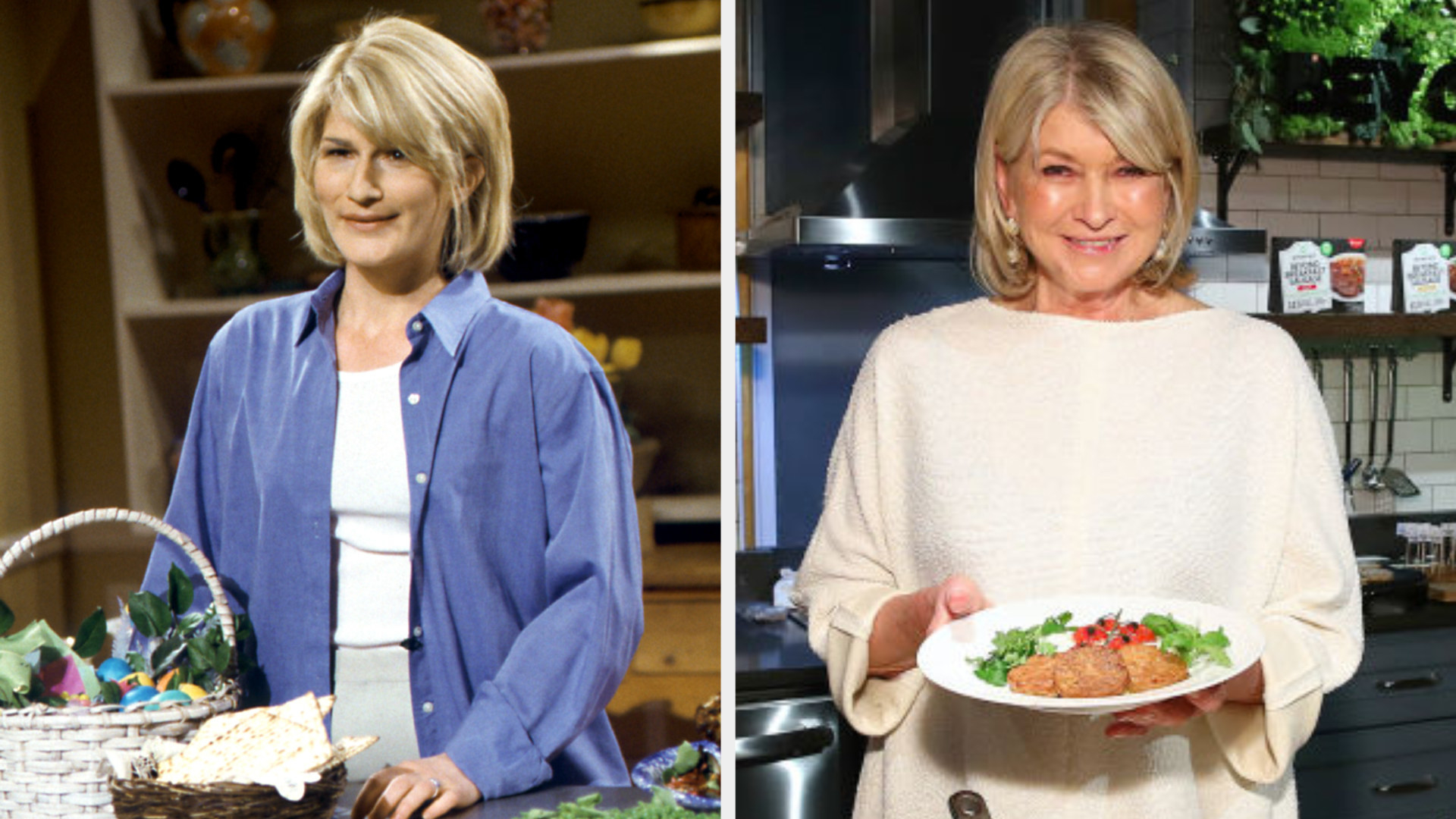 Ana as Martha in the kitchen side by side to Martha in the kitchen