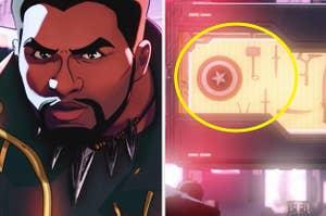 T'Challa vs. Captain America's shield and Thor's hammer