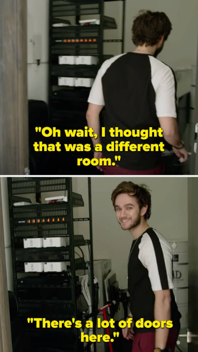 """Zedd walking into the wrong room and saying, """"Oh wait, I thought this was a different room. There's a lot of doors here."""""""