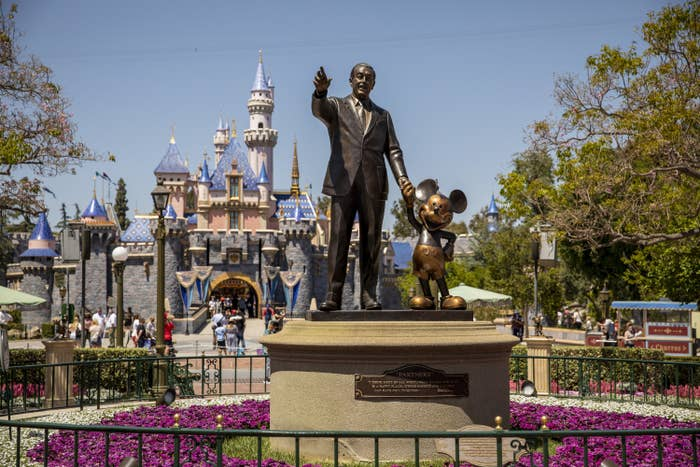 The end of Main Street in Disneyland