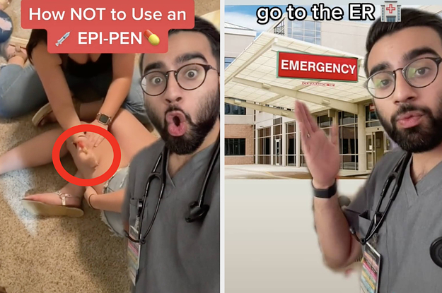 This Med Student Went Viral For Showing How To Properly Use An EpiPen After One Girl Accidentally Stabbed Herself With One