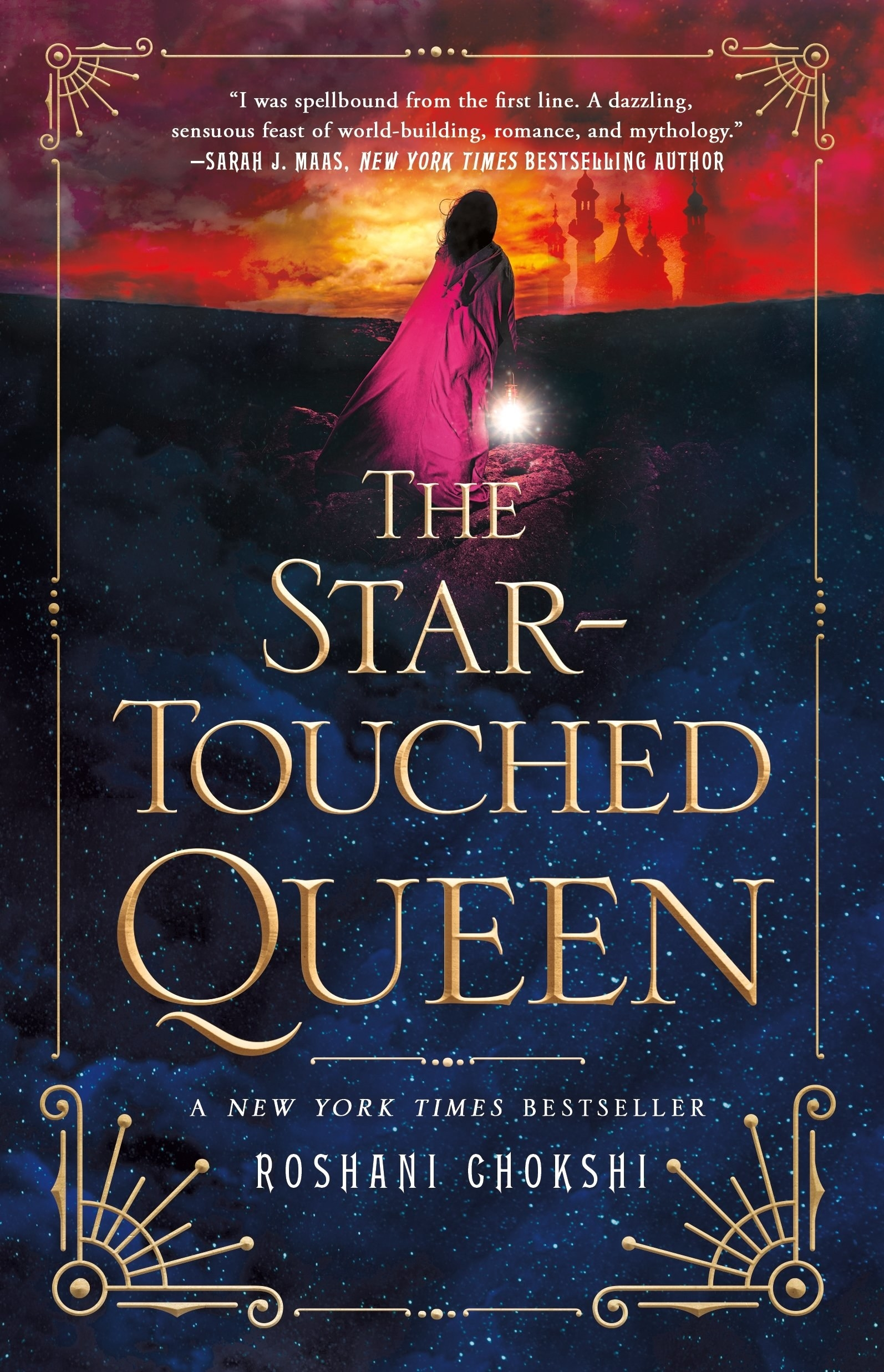 The Star-Touched Queen cover. Book by Roshani Chokshi.
