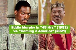 """Eddie Murphy in """"48 Hrs."""" vs. """"Coming 2 America"""""""
