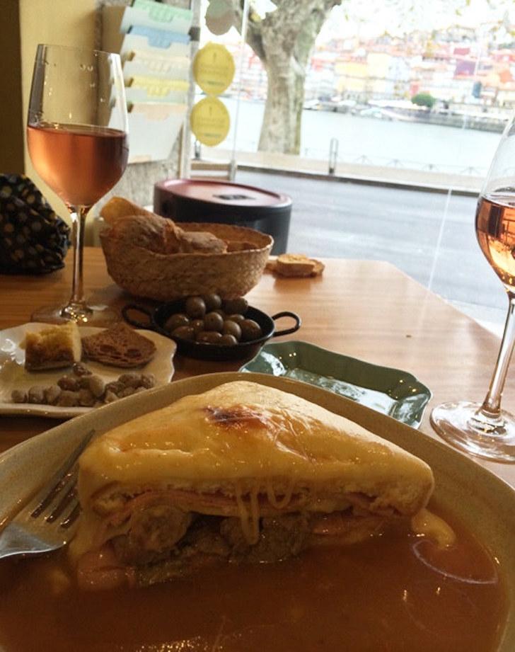 A Francesinha sandwich in Porto