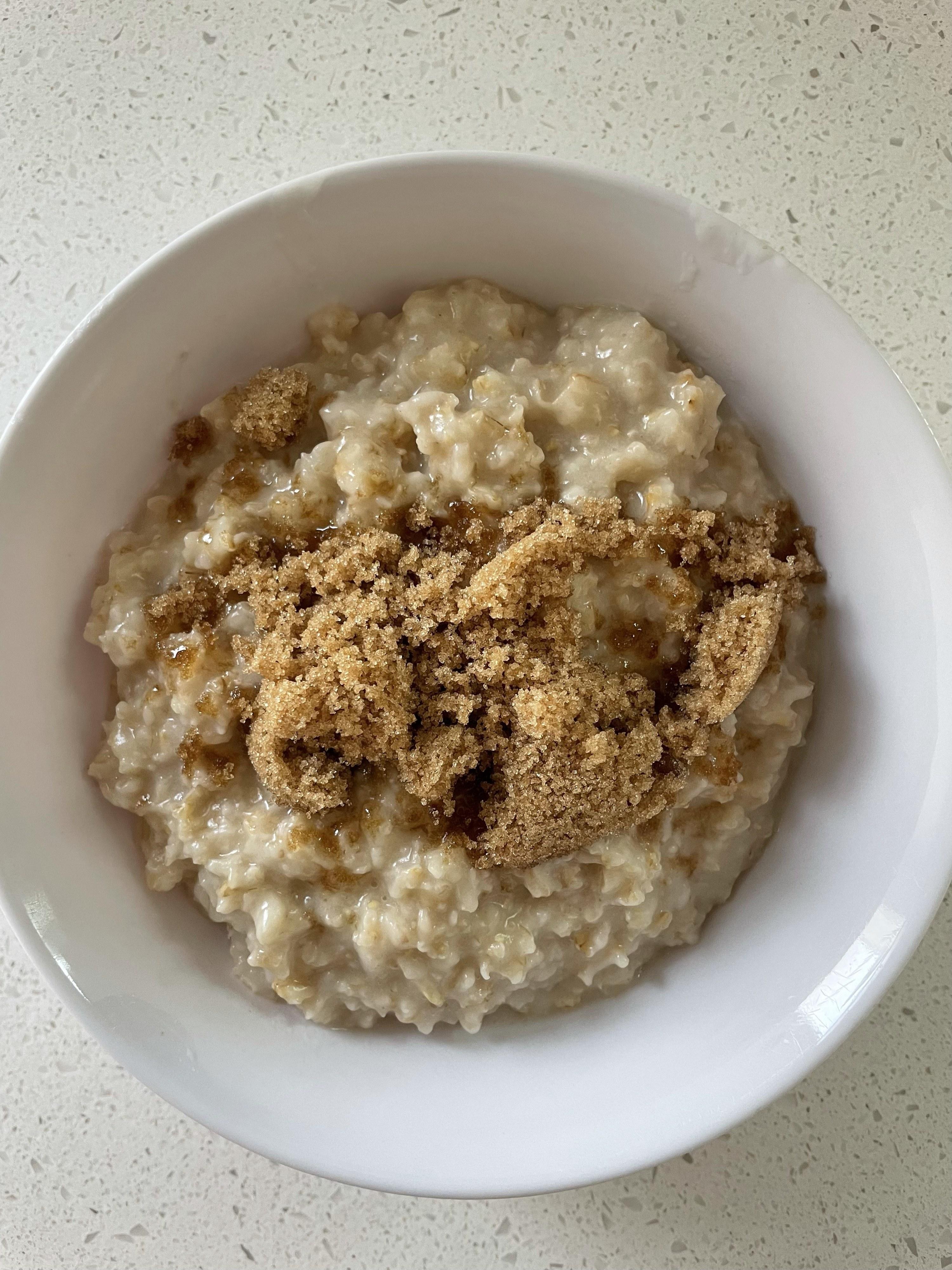 A bowl of brown-sugar oatmeal