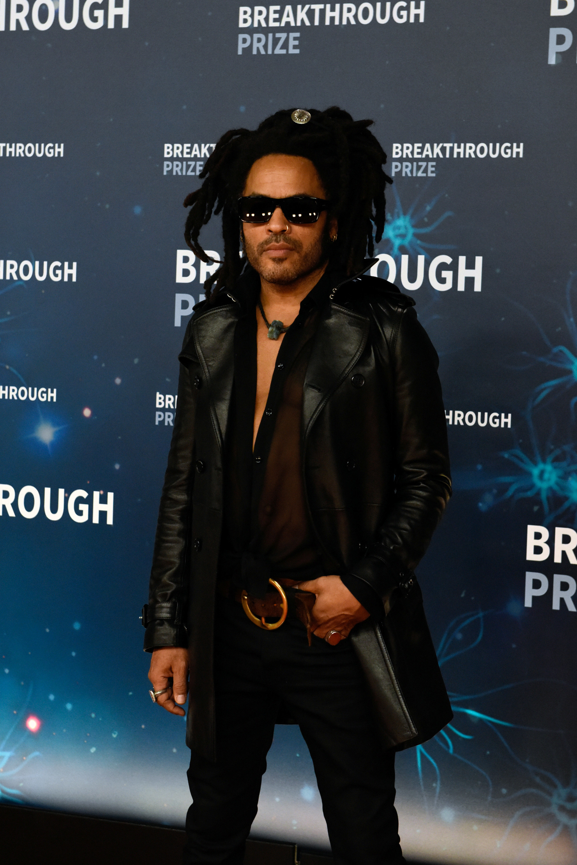 Lenny Kravitz is pictured at a red carpet event