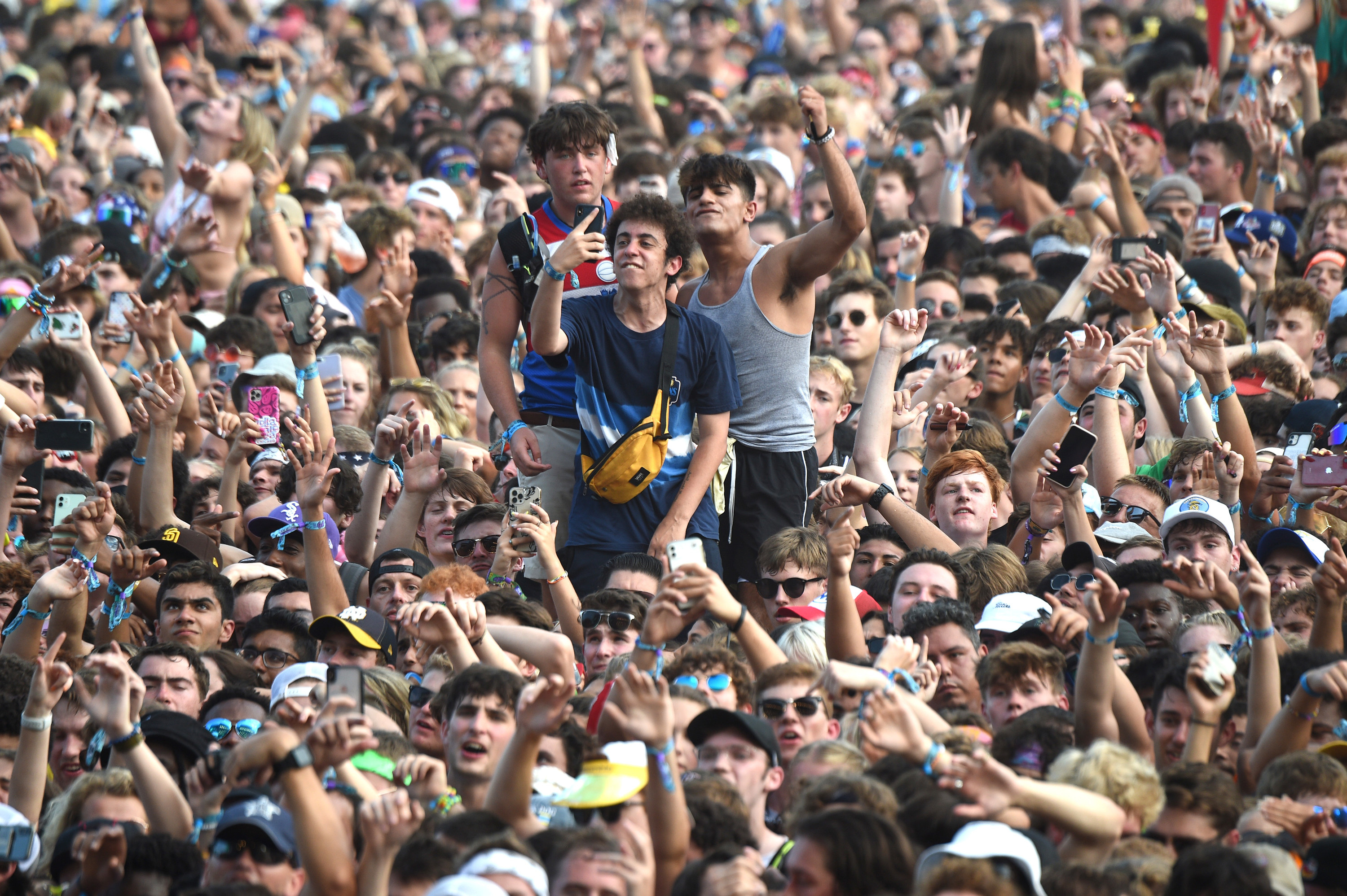 A crowded view of attendees at Lollapalooza music festival.