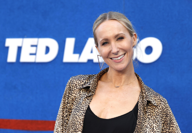 Nikki Glaser smiling at the Ted Lasso premier