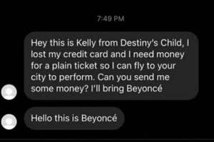 people pretending to be beyonce and kelly from destiny's child