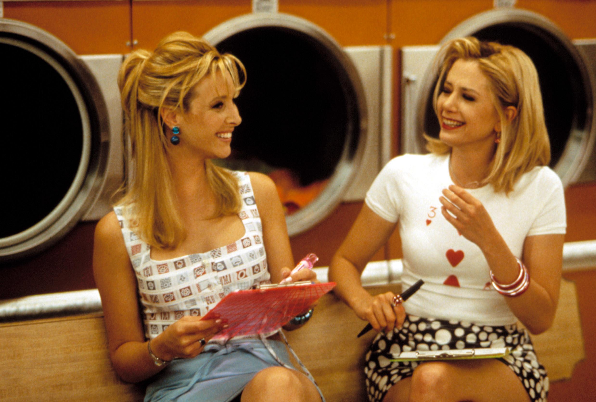 Lisa Kudrow and Mira Sorvino sharing a laugh