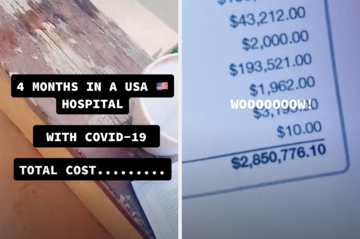 A hospital bill for 2.8 million dollars