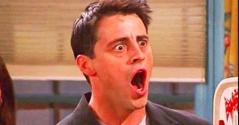 "Joey from ""Friends"" looking shocked"