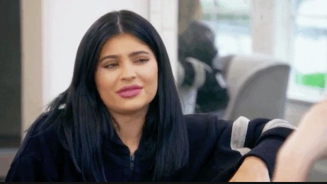 Kylie Jenner looking confused