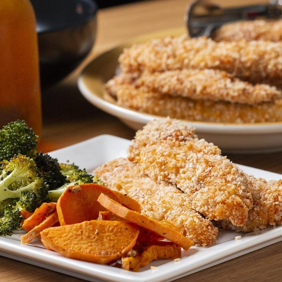 Sheet-Pan Crispy Chicken Strips And Veggies