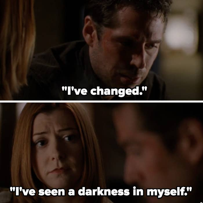 """Wesley tells Willow""""I've changed. I've seen a darkness in myself"""""""