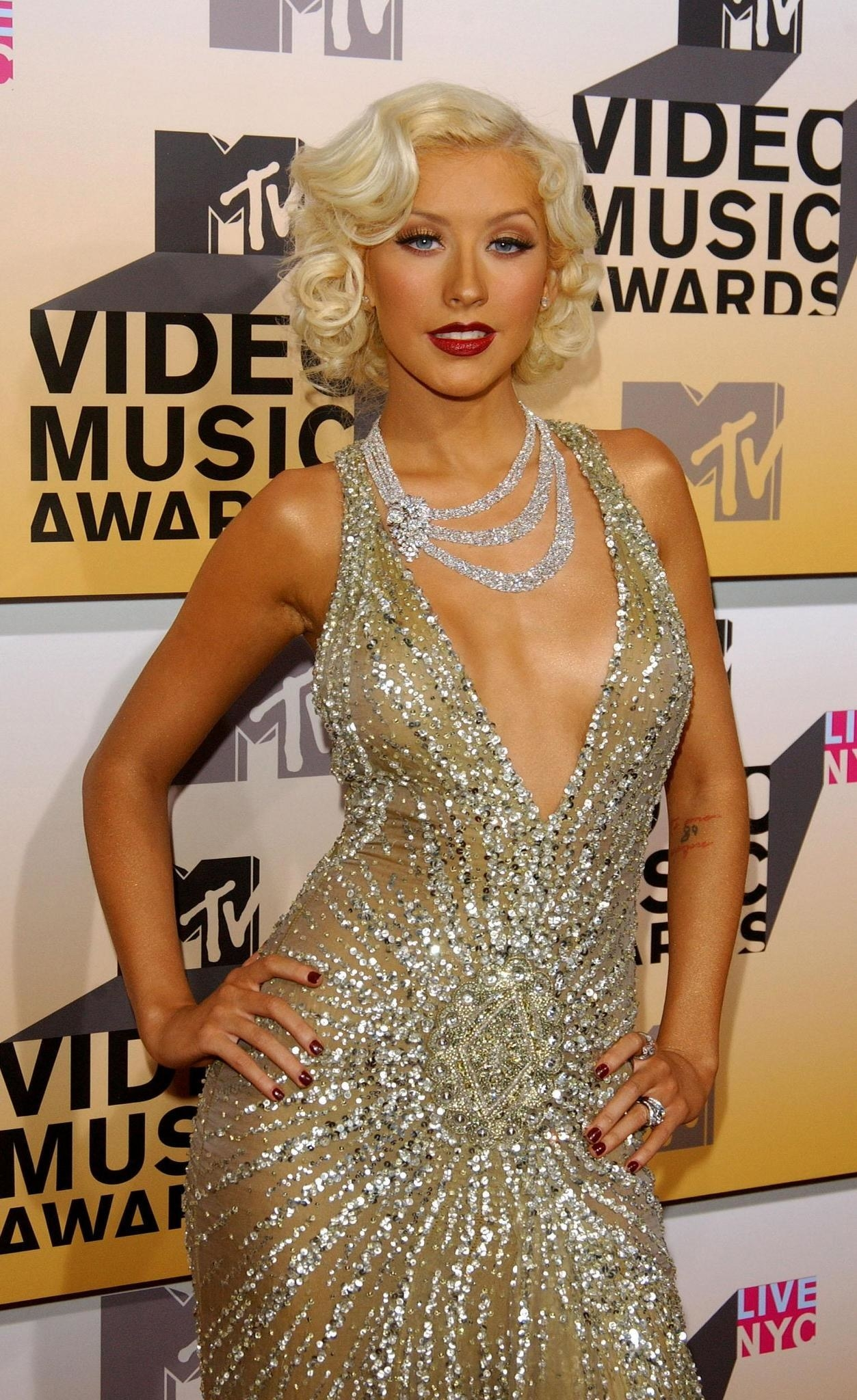 Christina Aguilera at the Video Music Awards in 2006