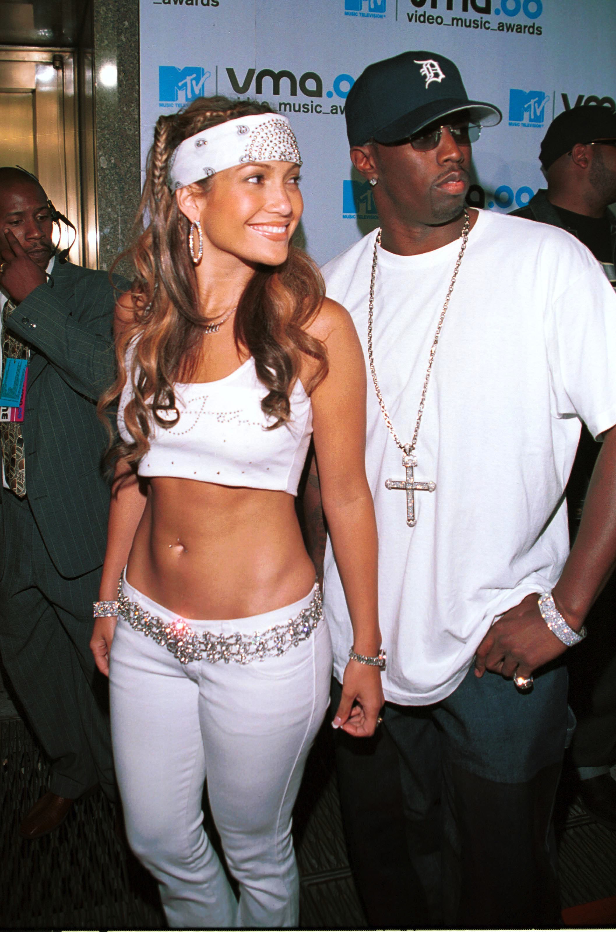 Jennifer Lopez and Diddy at the 2000 Video Music Awards