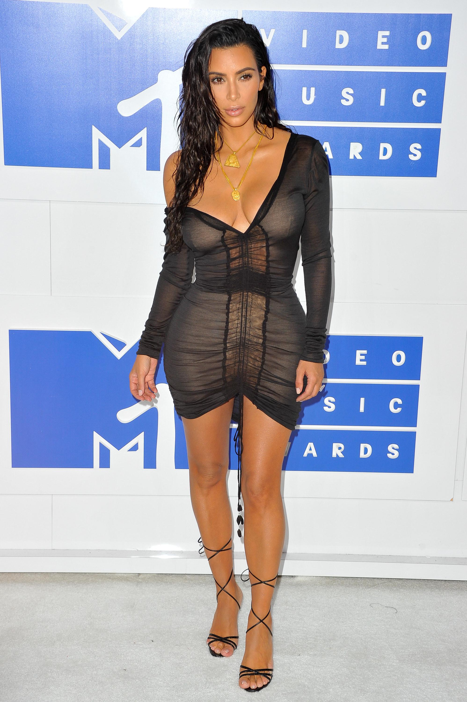 Kim Kardashian at the Video Music Awards in 2016