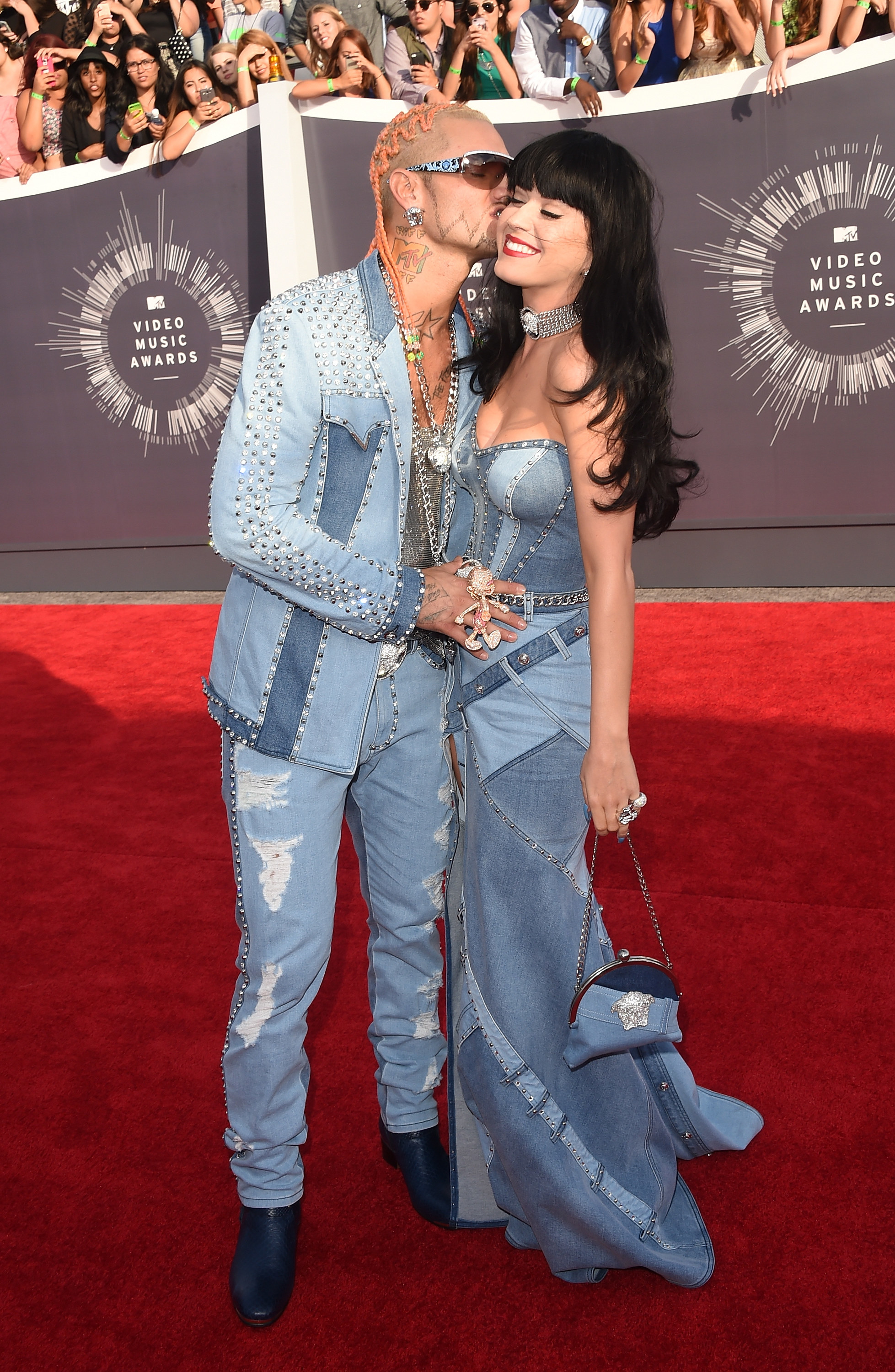 Katy Perry and Riff Raff at the Video Music Awards in 2014