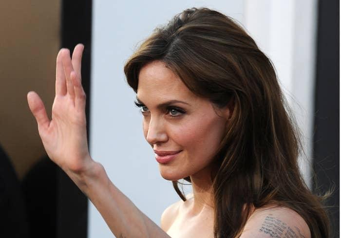 Angelina Jolie waving