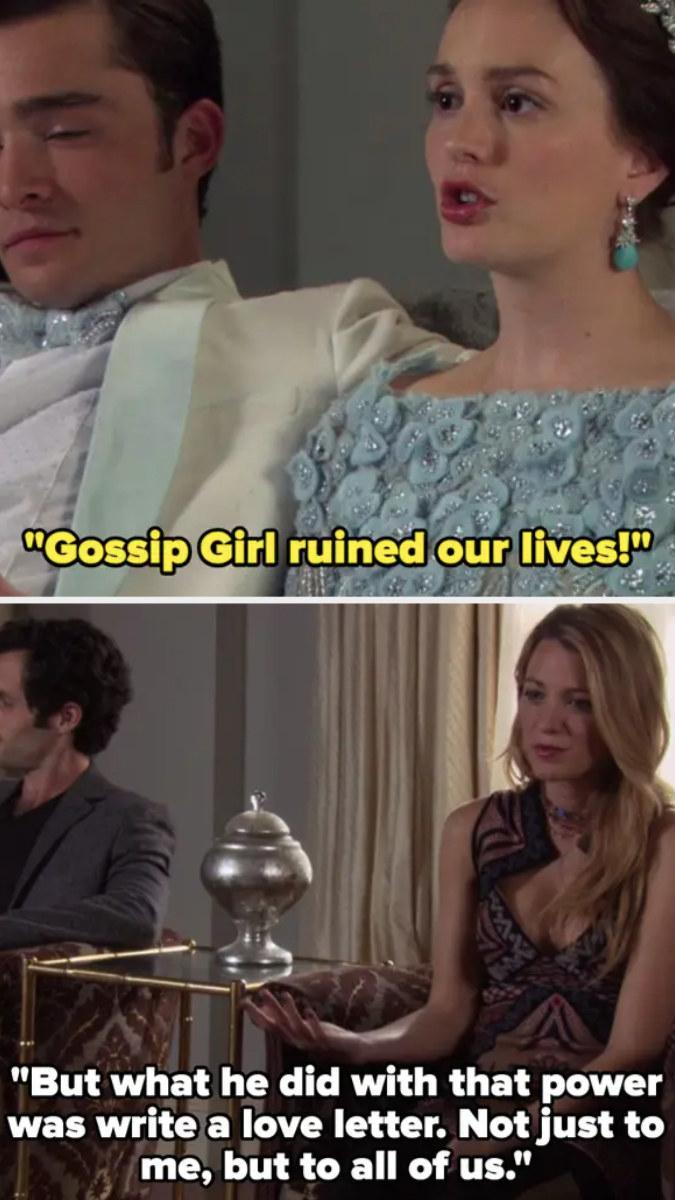 "Serena calls Gossip Girl a ""love letter"""