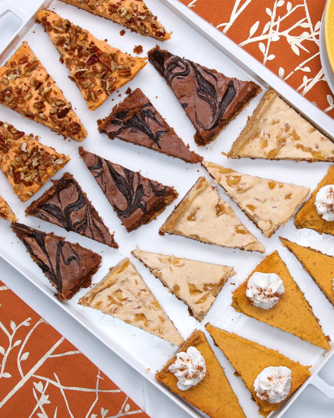 Holiday Sheet Pan Cheesecake Bars