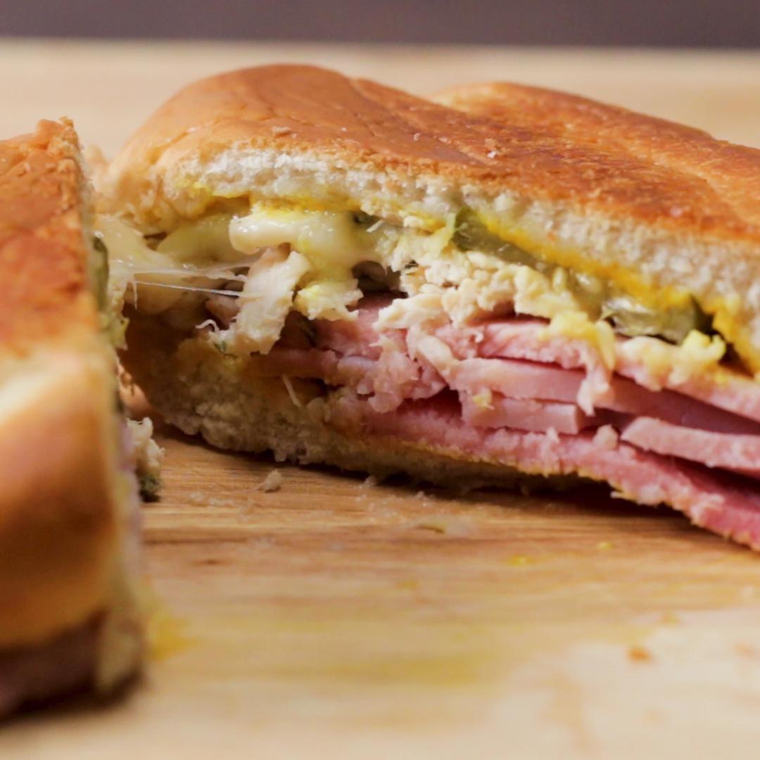 Leftover Ham Sheet Pan Cubanos