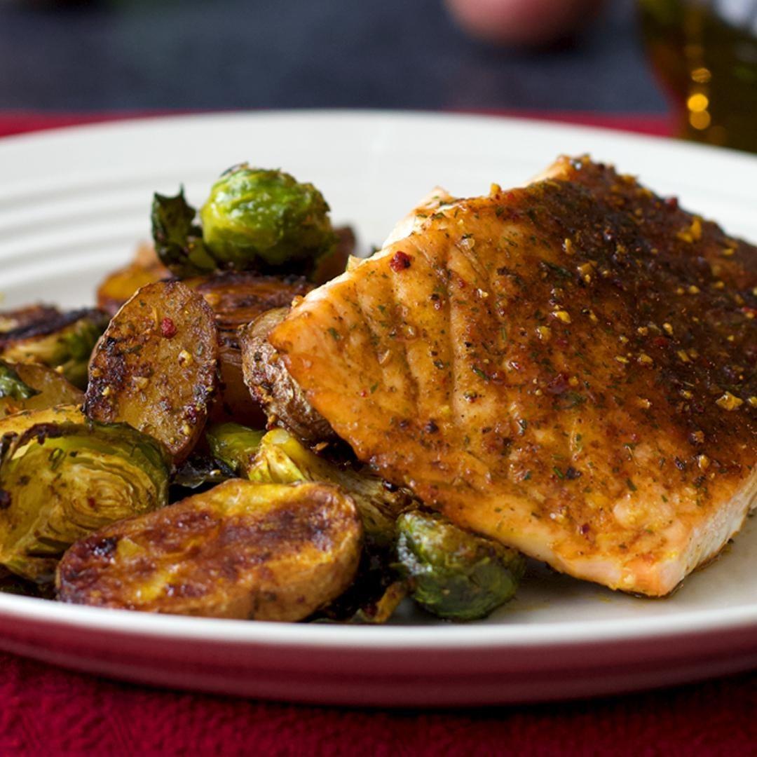 Salmon And Veggie Sheet-Pan Dinner