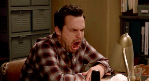 """Nick Miller from """"New Girl"""" looking disgusted"""