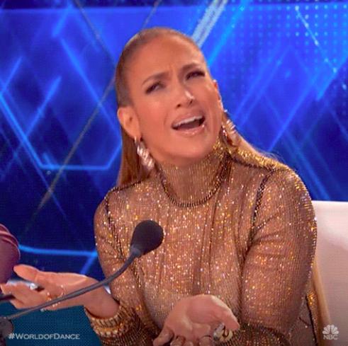 Jennifer Lopez looking super confused