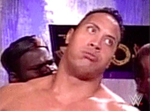 Dwayne Johnson rolling his eyes