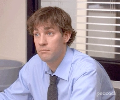"""Jim from """"The Office"""" looking intrigued"""