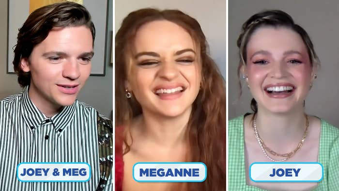 """The stars of """"The Kissing Booth"""" during their Zoom interview"""
