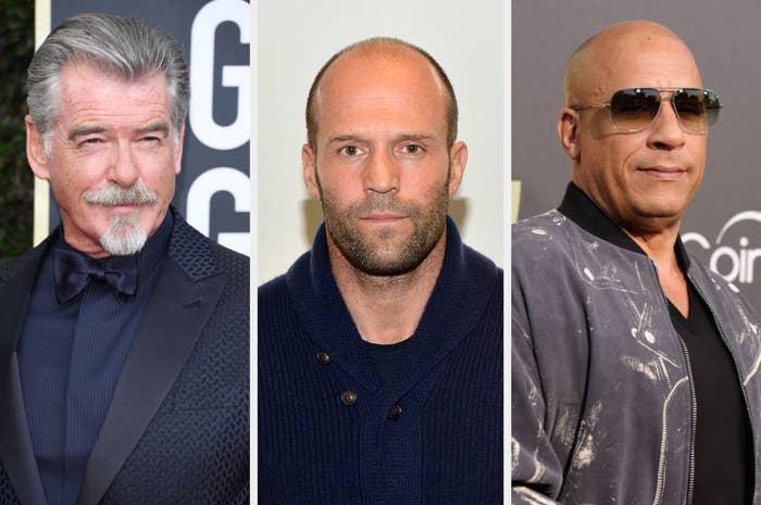 Pierce Brosnan, Jason Stratham, and Vin Diesel