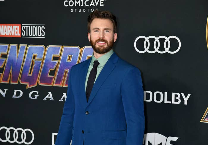 Chris Evans at the premier of Avengers' Endgame