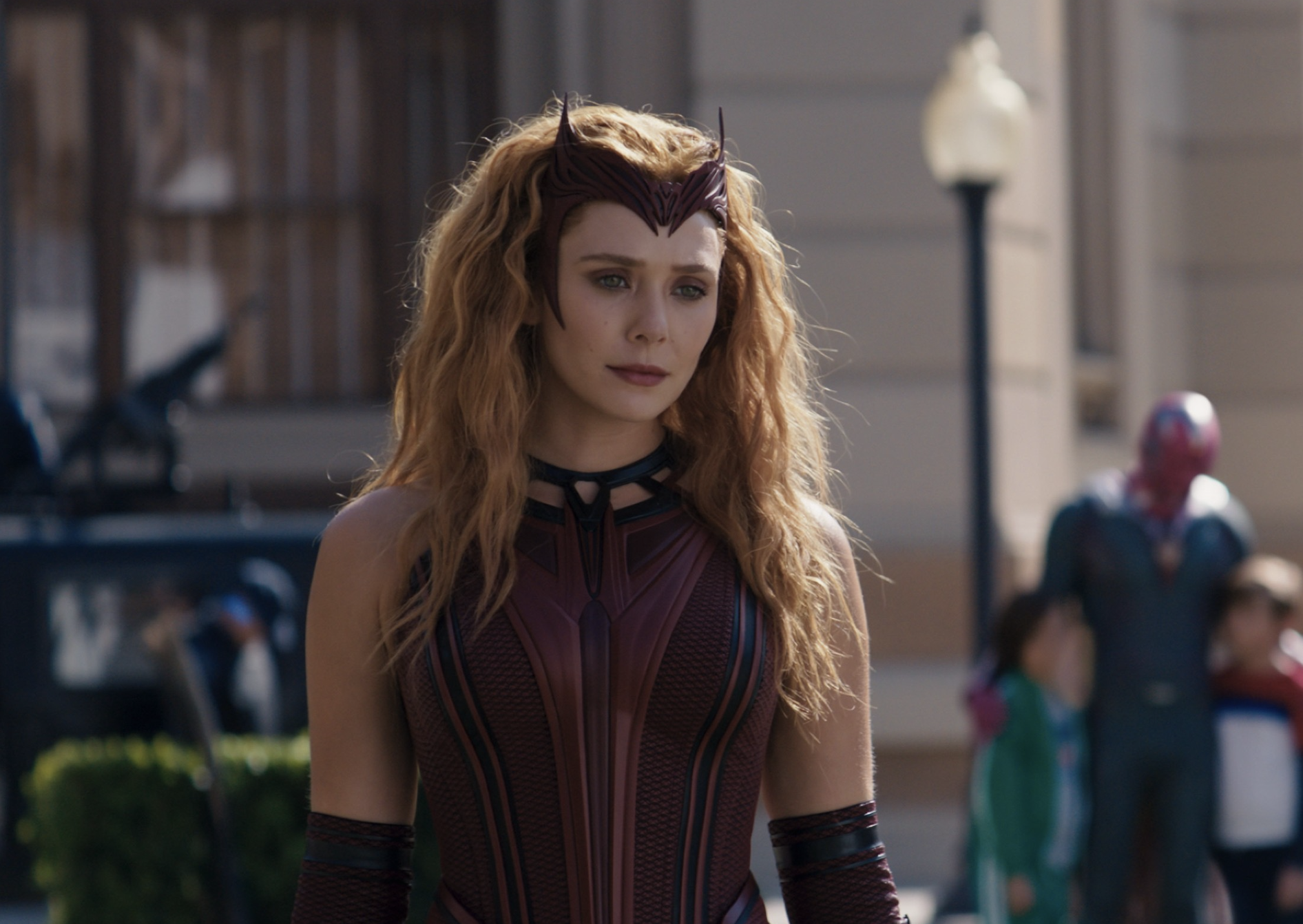 Wanda with Vision in the background