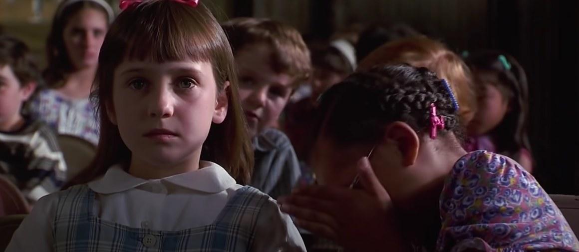 Matilda stares ahead while Lavendar shields her eyes