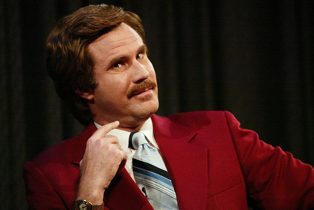 Will Ferell in character as Ron Burgundy