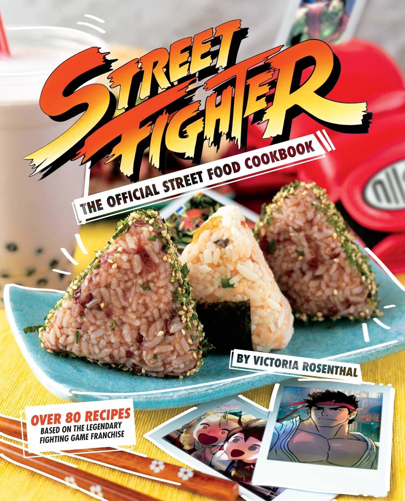 The cover ofStreet Fighter: The Official Street Food Cookbook