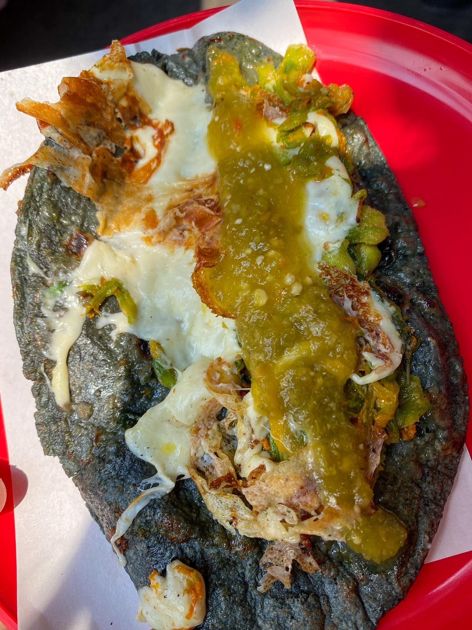 A street quesadilla from Jenni's.